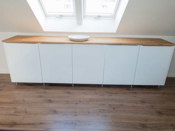 Sideboard aus Metod Küchenschränken - IKEA HACK in 2020 ...