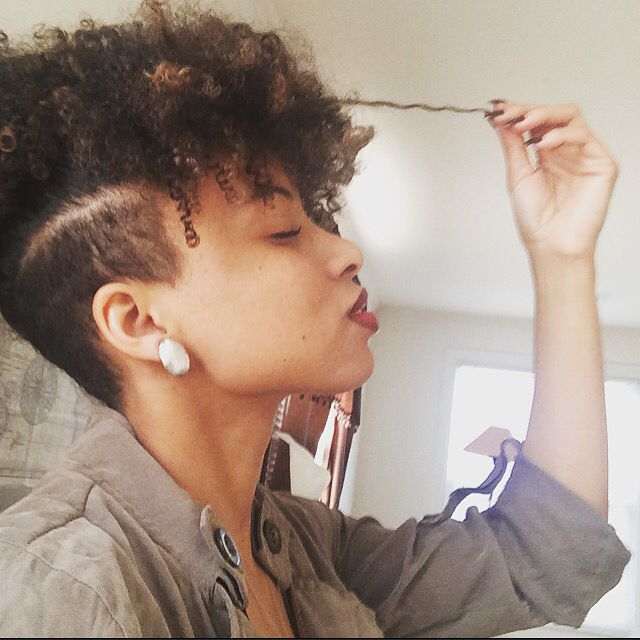 #hair #undercut #afro #curls  #NaturalHair  Undercuts are winning. Curly hair is winning. And natural hair is winning.