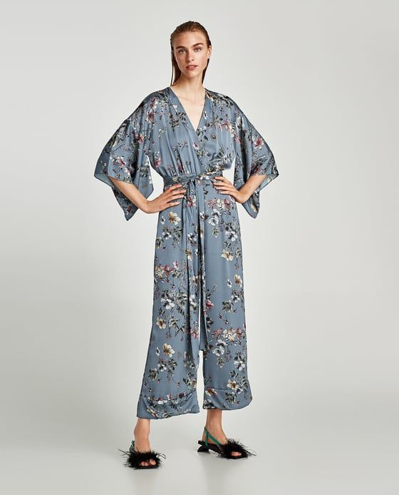 Image 1 of JUMPSUIT WITH KIMONO SLEEVES from Zara