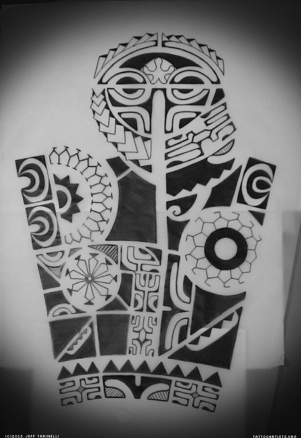 Marquesan sleeve Tribal