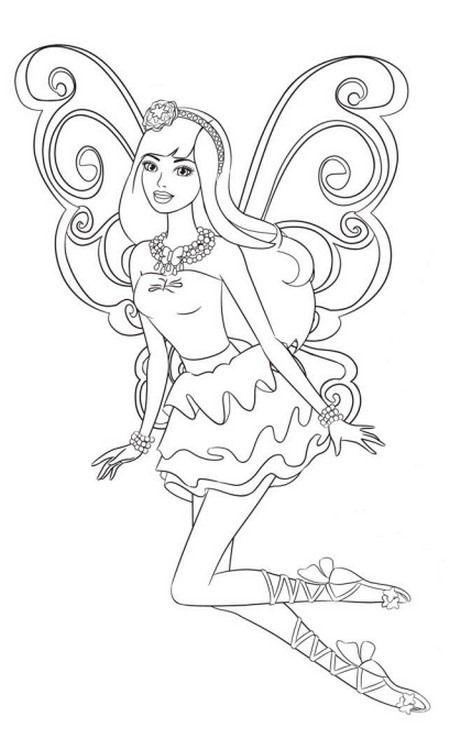 Desenhos e Riscos - Desenhos para colorir: Barbie e o Segredo das Fadas para colorir