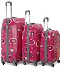 Rockland 3 Peças Vision Policarbonato/Conjunto de bagagem ABS F150-pinkpearl Bagagem Novo