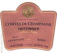 Taittinger Comtes de Champagne Brut Rose, Champagne, France label