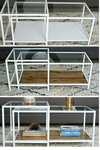 Ikea Restyle: Vittsjo Hack ikea, vittsjo, hack, nesting table, wood, stain, coffee table