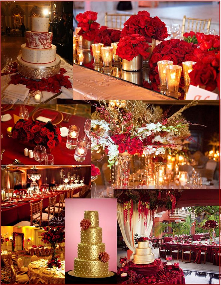 Red And Gold Wedding And Event Ideas Wedding Reception Pinterest