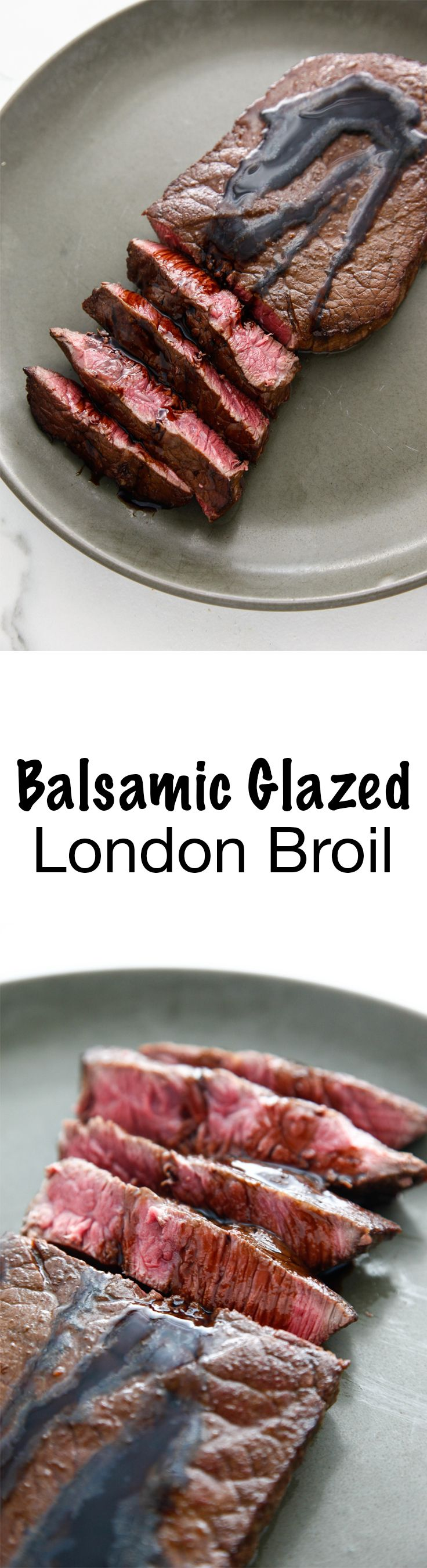 Balsamic Glazed London Broil via @thebrooklyncook