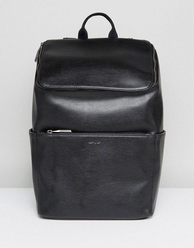 Get this Matt & Nat's backpack now! Click for more details. Worldwide shipping. Matt & Nat Dean Backpack - Black: Bag by Matt Nat, Vegan leather outer, Recycled plastic lining, Grab handle, Adjustable straps, Front-flap closure, Zip fastening, External pockets, Interior pocket, Do not wash, 100% Polyvinylchloride, H: 16cm/6 W: 11.5cm/4 D: 5cm/2. Since launching in 1995, eco-friendly brand Matt Nat has mastered the art of ethical bag making. Considering the welfare of the planet throughout…