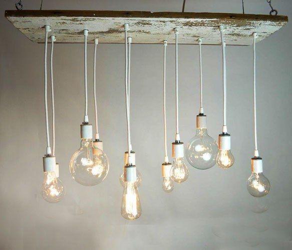 Barnwood Chandelier #bulb