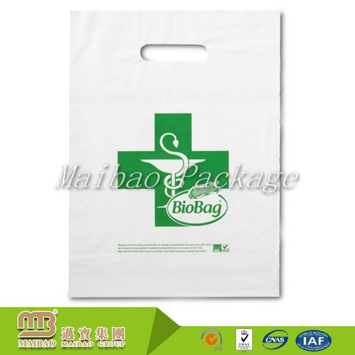100% Bio Degradable Eco Friendly Heat Sealing Supermarket Shopping Custom Printed Ldpe Plastic Carrier Bags