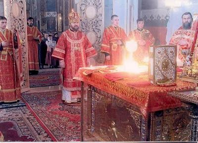 Pinner says: A boy at our church was surprised when he found out that no one else saw the altar filled with light when the priest prayed for the Holy Spirit. He had always seen it every Sunday. This uncreated light as not visible at the time, but was only seen when the film was developed.