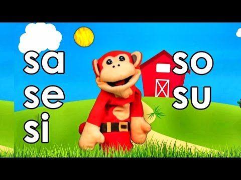 Sílabas sa se si so su - El Mono Sílabo - Videos Infantiles - Educación para Niños # - YouTube