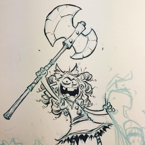 Inking Gert on a cover for something special. #ihatefairyland...