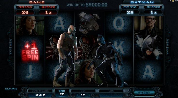 Este juego de tragamonedas online esta basado en la pelicula de Batman y le da una gran oportunidad de ganar una enorme suma de dinero!