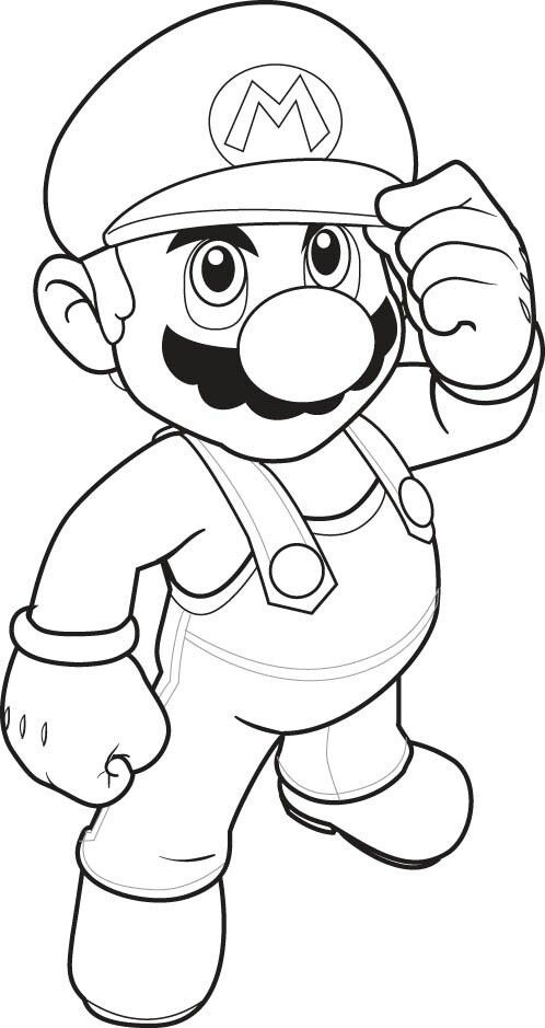 super mario coloring pages for kids this article brings you a number of super mario - Kids Colouring Picture