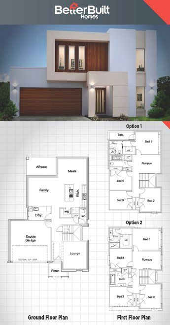 Different Architectural Styles Exterior House Designs: The Jameson: Double Storey House Design.