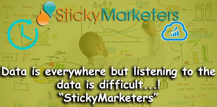 Data is everywhere but listening to the data is difficult. We at #Stickymarketers focus on listening to what your #data is saying about your #business to understand your #customers & generate #insights that either affects your top line or bottom line. Stickymarketers.com