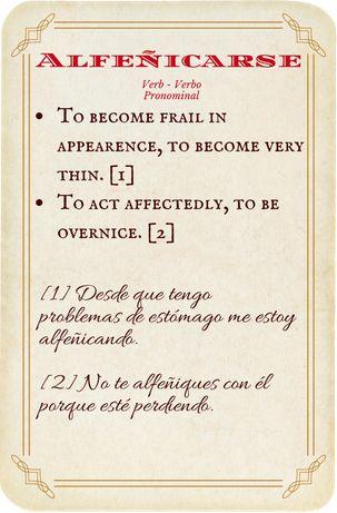 Alfeñicarse, verbo pronominal - verb.