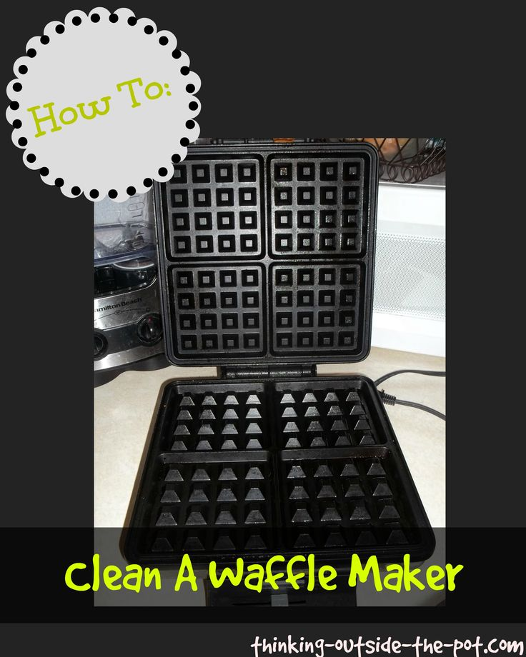 How To: Clean a Waffle Maker