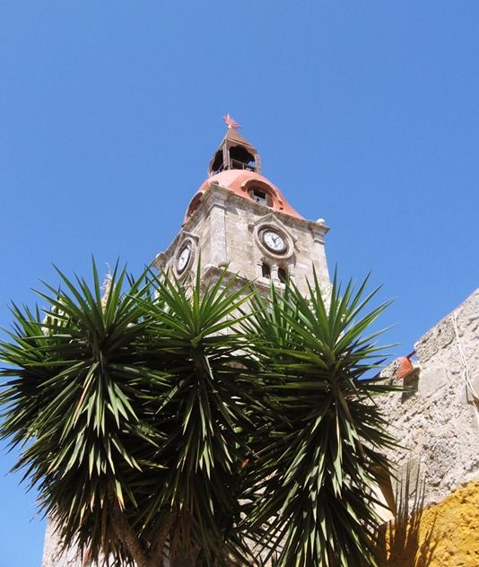 Roloi Clock Tower,Rhodes,Greece