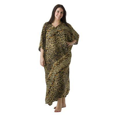 Sundrenched Long Kaftan Snake/Cheetah - $35.00 #kaftans #summerclothes #plussize
