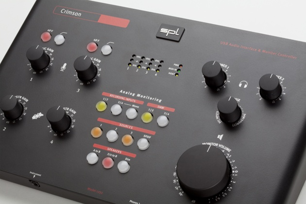 Crimson combines a USB interface with high-quality pre-amps and a separate, fully-featured monitor controller, creating a cost-effective, portable package. Play, playback, record, convert, control, and listen with a single device.