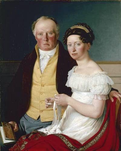 Christoffer Wilhelm Eckersberg Portrait of Count Preben Bille-Brahe and his second wife Johanne Caroline, née Falbe Oil on canvas 1817