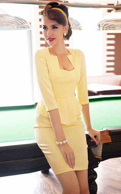 �S0694951-yellow $25.00 on Ozsale.com.au Can't wait till this one arrives in the mail! Love the hair and makeup too.
