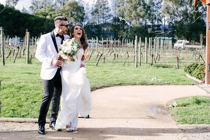Bride and groom celebrating ~ Foto Jojo wedding photography ~