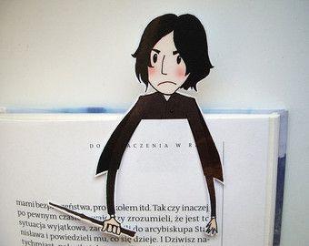 Harry Potter bookmark by BigNerdWolf on Etsy