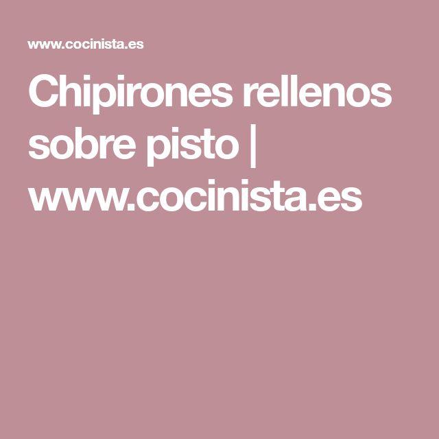 Chipirones rellenos sobre pisto | www.cocinista.es