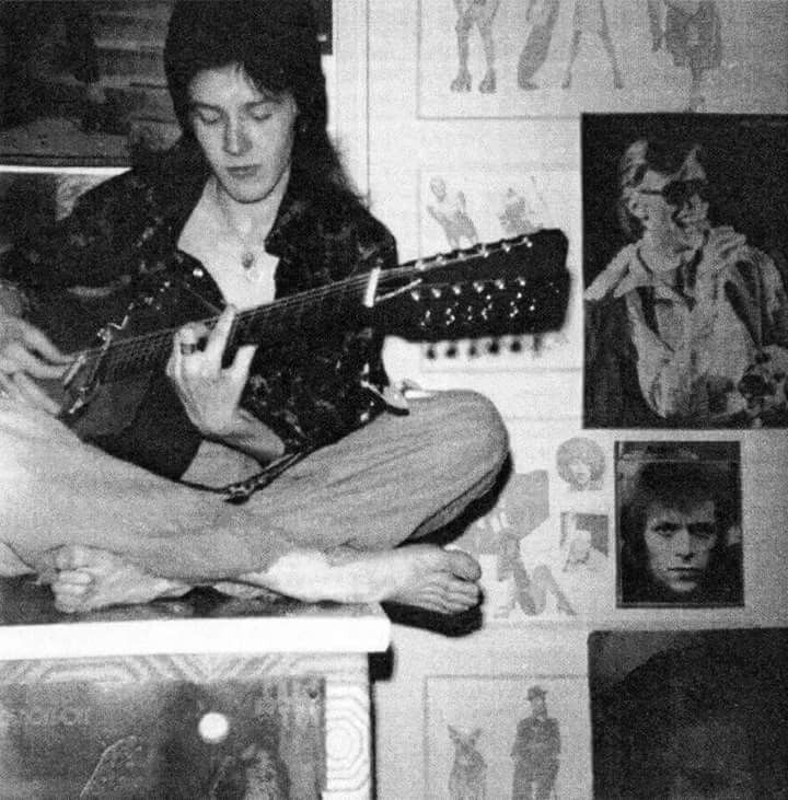 David Sylvian 14 years old.....Bowie on the wall    David Bowie  R.I.P.