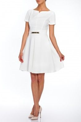 We love this charming white dress!  #summer #dress #ss2015 #stylish