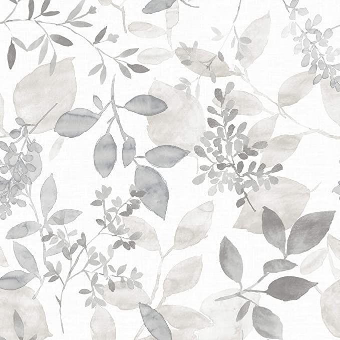 Nuwallpaper Nus3144 Grey Breezy Peel Stick Peel And Stick Wallpaper Amazon Com Botanical Wallpaper Farmhouse Wallpaper Watercolor Wallpaper