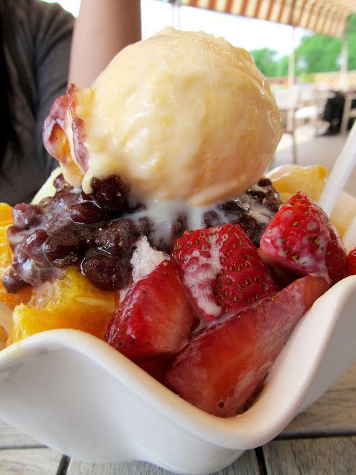 Patbingsu, popular shaved ice dessert in Korea