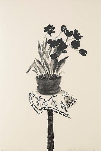 """David Hockney """"Black tulips"""". 1980"""