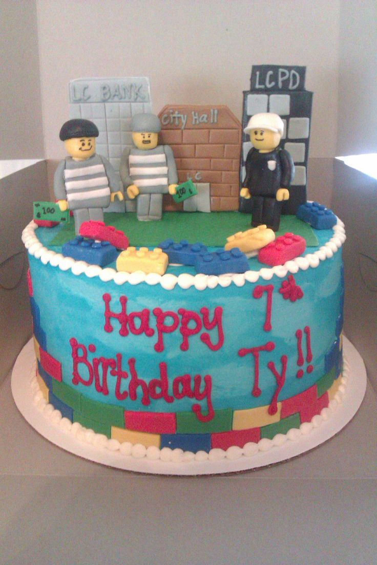 cops and robbers kids party decorations | Lego City/ Cops and Robbers Birthday Cake - Just BAKED Cakes and ...