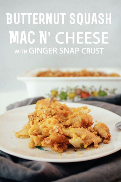 Butternut Squash Mac N' Cheese with Gingersnap Crust |