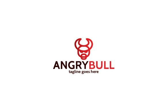 Angry Bull Logo Template by Shaoleen on @creativemarket