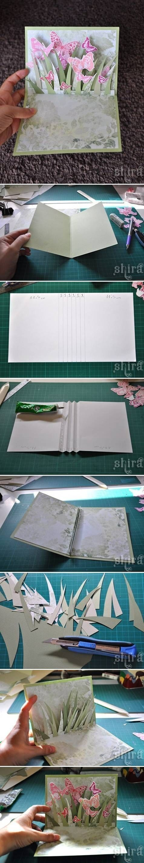 How to make a 3d butterfly greeting card butterflies diy diy crafts do it yourself diy projects greeting card
