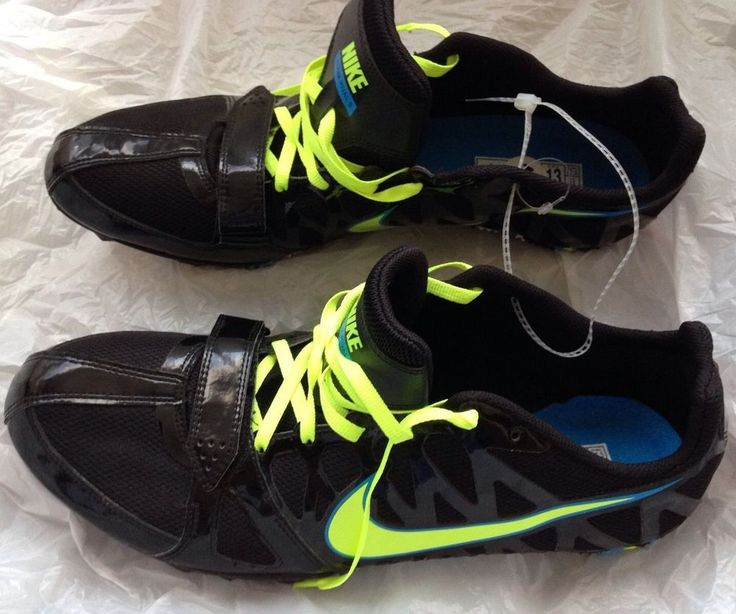 Nike Zoom Rival S Men's Track Sprint Shoes Black Blue Running Cleats Size 13 NEW #Nike #Cleats