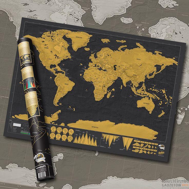 Mapa Zdrapka Deluxe. Zaznaczaj miejsca, które już odwiedziłeś - motywuj się do kolejnych podróży!