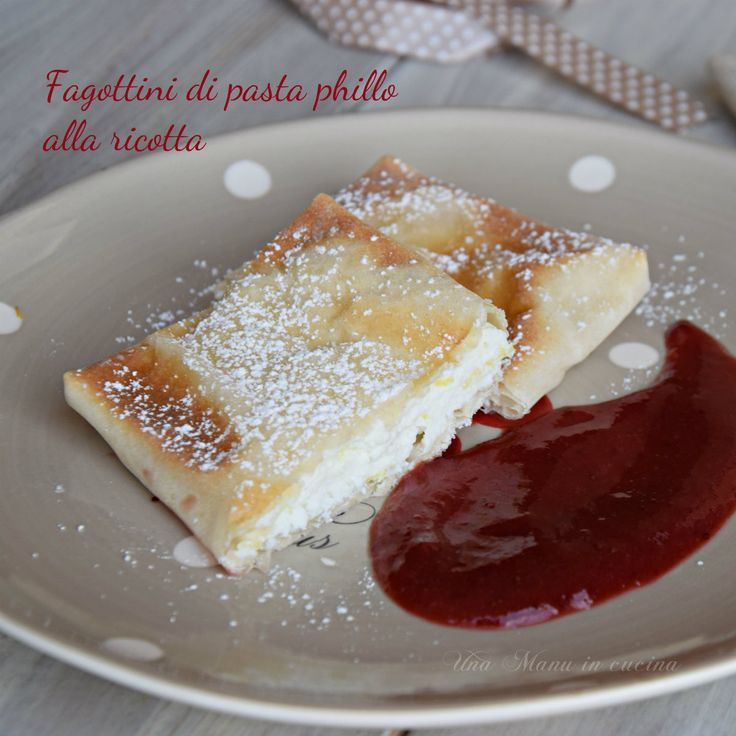 Little bundle of phyllo dough with ricotta | Fagottino di pasta phillo alla ricotta | una Manu in cucina
