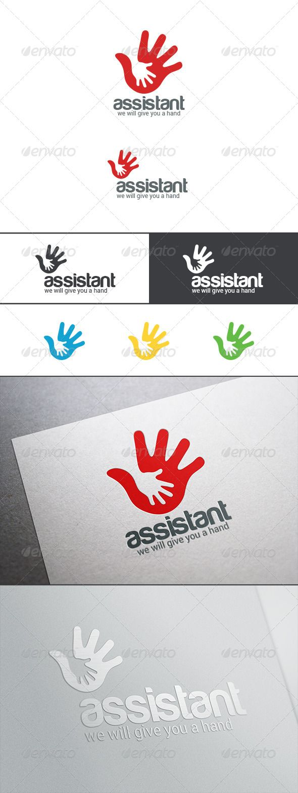 Help Hand Hold Logo Abstract - Abstract Logo Templates