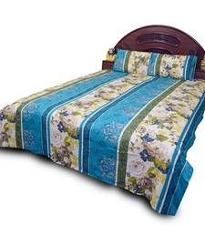 Buy Jaipuri Cotton Floral Printed Double Bedsheet Set bed-sheet online #DesignerBedSheets