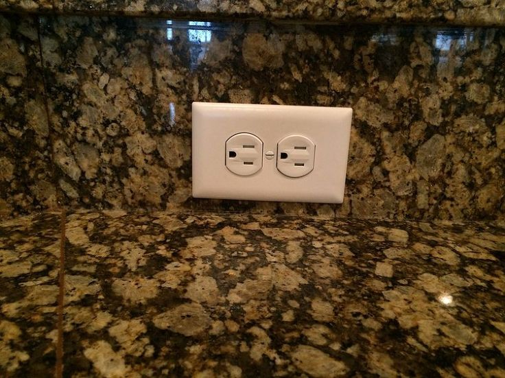 How to paint electrical outlet plates to match granite? - The tan outlet plates on the black/tan granite backsplash in my kitchen look awful! What's the best wa…