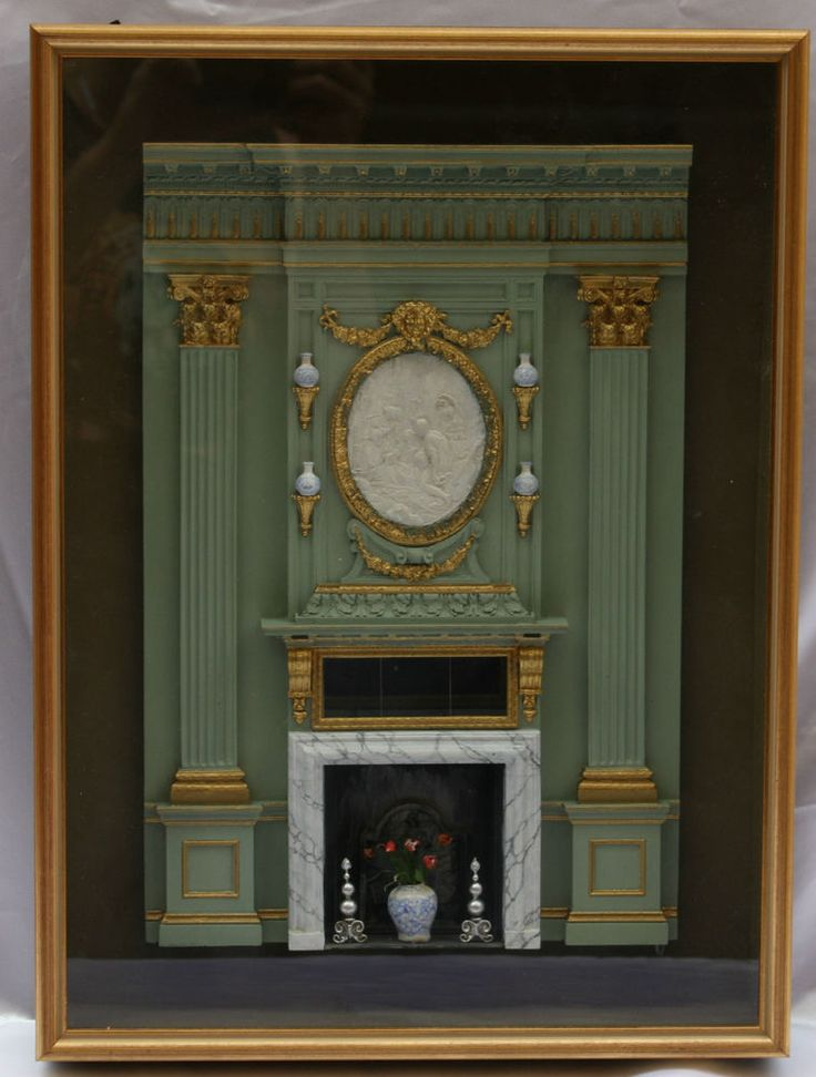 MAGNIFICENT ENGLISH MINIATURE OF AN INTERIOR BY SUSAN ROGERS & KEVIN MULVANY #Miniature