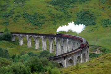 Hogwarts Express Train Scotland's legendary West Highland Line is dubbed the Hogwarts Express Train line, photogenically featured in the Harry Potter films when Harry and crew are transported by train to Hogwarts School from King's Cross Station's Platform 9 3/4.