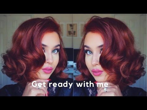 Get ready with me | Kat Von D Foundation review | Hot rollers vintage hair – You…