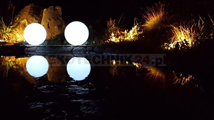 Świecące kule solarne RGB 4fundesign #ogrody #ogród