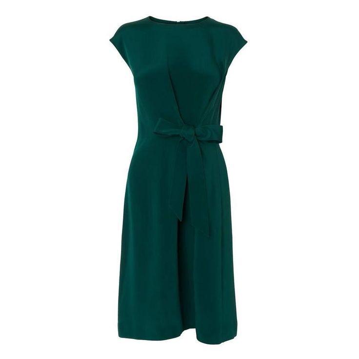 Solar Green Silk Dress   Clothing   L.K.Bennett
